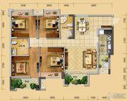 佳兆业君临4室2厅2卫111平方米户型图