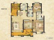 达安上品花园3室2厅2卫146平方米户型图