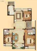 吴中万达广场3室2厅2卫140平方米户型图