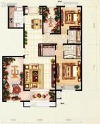 红木林2室2厅2卫153平方米户型图