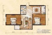 金山翰林苑2室1厅1卫88平方米户型图