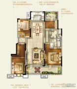 卓越皇后道千山外4室2厅2卫131平方米户型图
