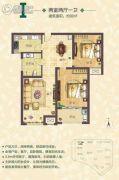 东湖湾2室2厅1卫90平方米户型图