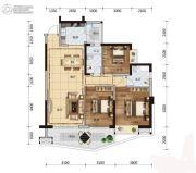 广物滨海国际3室2厅2卫123平方米户型图