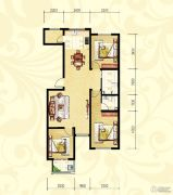 众和凤凰城3室2厅2卫127平方米户型图