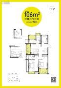 凯德汇豪时代3室2厅2卫0平方米户型图