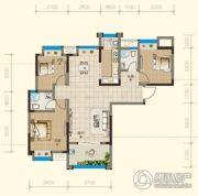 均瑶・御景天地3室2厅1卫110平方米户型图