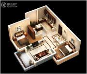 恒大御府2室2厅1卫65--69平方米户型图