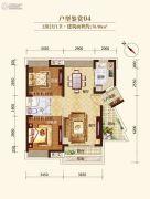 龙溪新城2室2厅1卫76平方米户型图