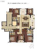 滨江保利・翡翠海岸5室2厅4卫219平方米户型图