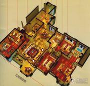 万科中梁・金域中央5室2厅3卫145平方米户型图