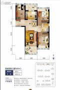 海口碧桂园3室2厅1卫90平方米户型图