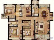 保利翡丽公馆4室2厅2卫131平方米户型图