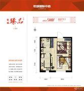 钜城国际中心1室1厅1卫0平方米户型图