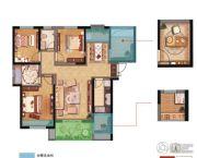 振业泊公馆3室2厅1卫0平方米户型图