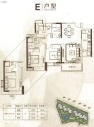 中鼎・君和名城3室2厅2卫98平方米户型图