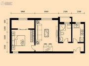 加莱印象1室2厅1卫79平方米户型图