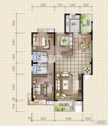 领秀资江3室2厅2卫140平方米户型图