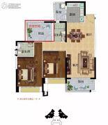 雅居乐英伦首府3室2厅2卫117平方米户型图