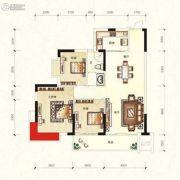 华宁春城3室2厅1卫108平方米户型图
