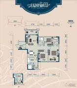 云星・钱隆御景3室2厅2卫87--90平方米户型图