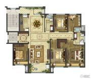 御香园4室2厅2卫165平方米户型图