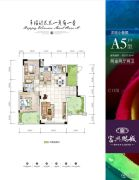 富兴鹏城2室2厅2卫102平方米户型图