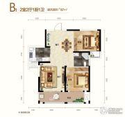 阳光城十里新城2室2厅1卫87平方米户型图