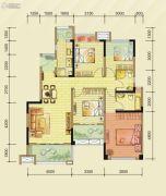 华邑阳光里4室2厅2卫0平方米户型图