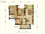 润扬观澜鹭岛3室2厅2卫86平方米户型图