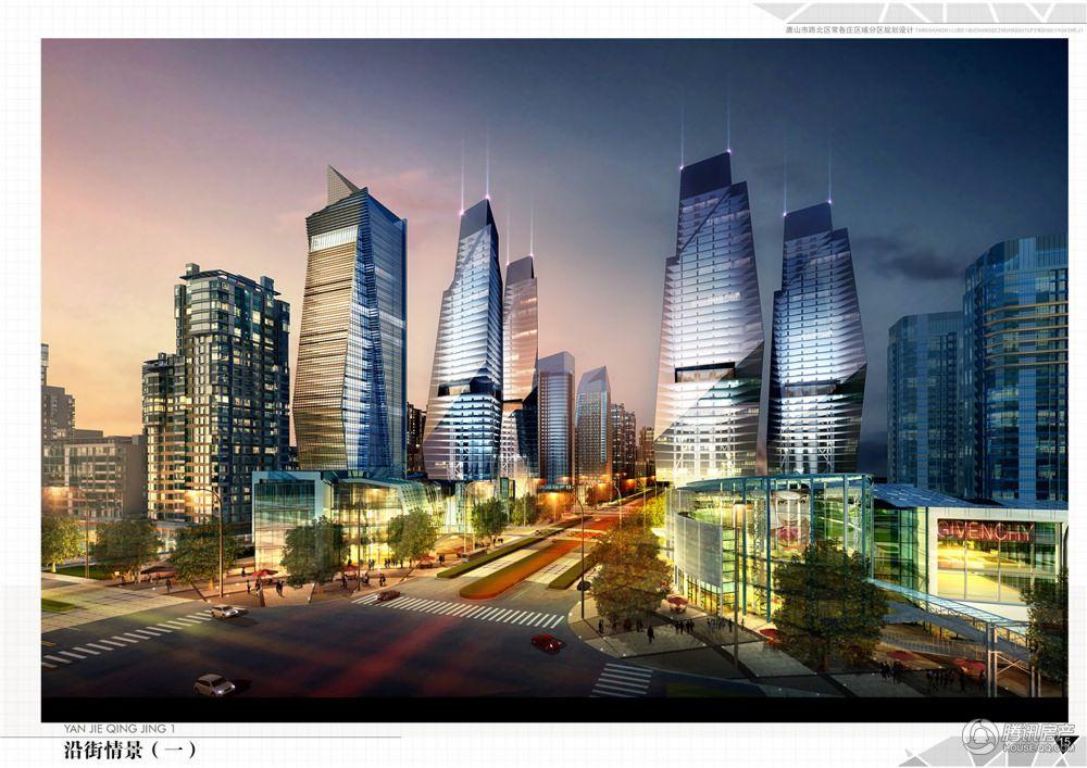 新天地美域商业沿街夜景图