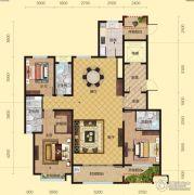 盛邦大都会3室2厅3卫191平方米户型图