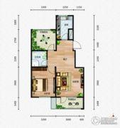 芭东海城1室2厅1卫72平方米户型图
