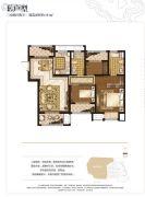 世茂石湖湾3室2厅2卫111平方米户型图