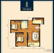 包头中城・国际城2室2厅1卫80平方米户型图