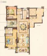 中梁永宁首府3室2厅2卫100平方米户型图
