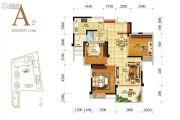 人居天府汇城3室2厅1卫113平方米户型图