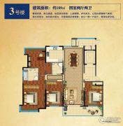 龙泊湾4室2厅2卫189平方米户型图