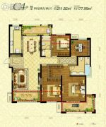 曲江千林郡4室2厅2卫211平方米户型图