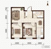 益和国际城2室1厅1卫60平方米户型图