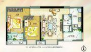 北部万科城2室2厅1卫69平方米户型图