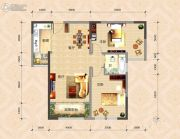 国色天襄2室2厅1卫100平方米户型图