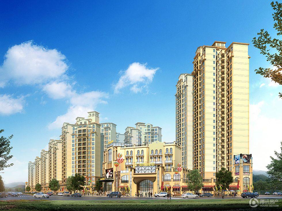 广海新城沿街日景效果图