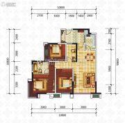 滨江国际3室2厅2卫99平方米户型图