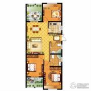 信达银郡3室2厅2卫120平方米户型图