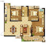 中建・状元府3室2厅2卫123平方米户型图
