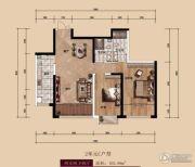 中广宜景湾・尚城2室2厅2卫103平方米户型图