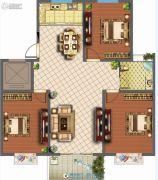 君悦国际花园3室2厅1卫119平方米户型图