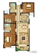 瀛海19城3室2厅2卫118平方米户型图