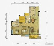 两江春城2室2厅2卫80平方米户型图